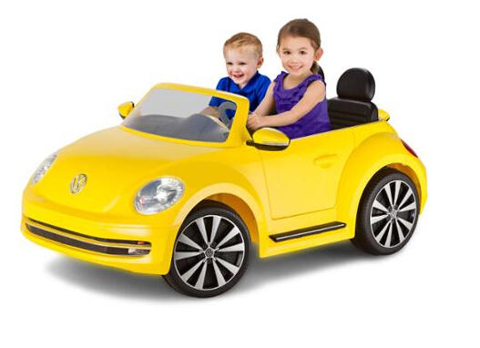 Kid Trax VW Beetle Convertible 12-Volt Battery-Powered Ride-On (Yellow)