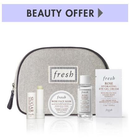 Free 5 pc GWP with any $125 Fresh  Beauty Purchase @ Neiman Marcus