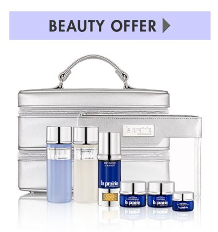 Free 7-piece Gift with any $750 La Prairie purchase @ Neiman Marcus
