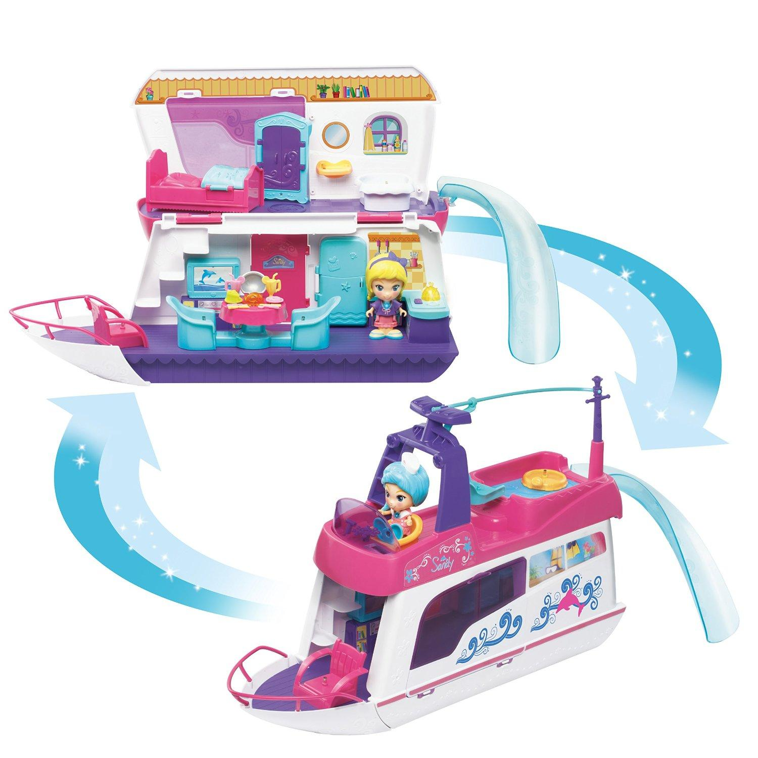 $11.39 VTech Flipsies Sandy's House and Ocean Cruiser Doll House
