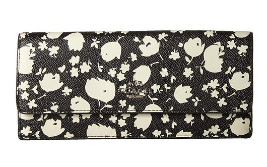 $124.99 COACH Soft Wallet in Floral Print