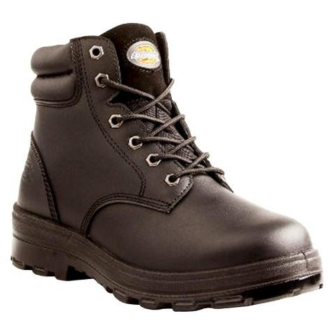 Dickies Men's Challenger Leather Waterproof Work Boots - Black