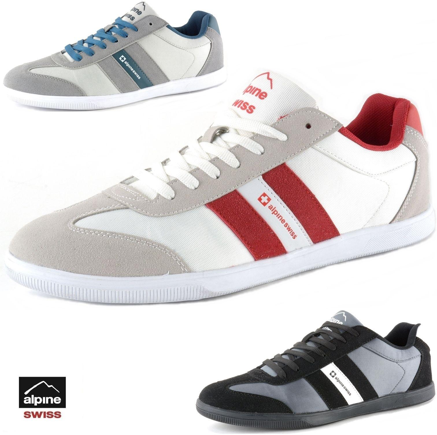 $27.99 Buy 1 Get 1 At 15% Off Alpine Swiss Haris Mens Retro Striped Athletic Shoes