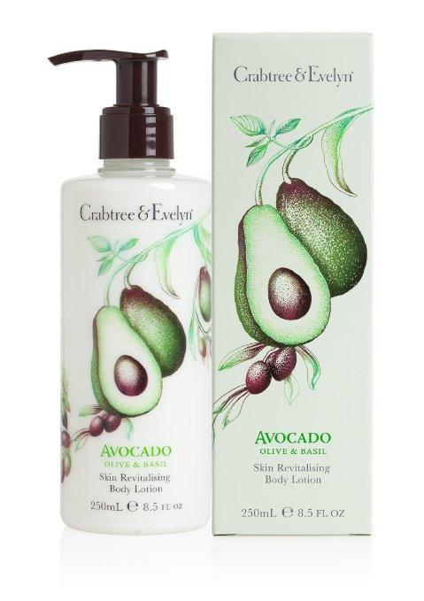 Crabtree & Evelyn Skin Revitalising Body Lotion, Avocado, Olive and Basil, 8.5 fl. oz.