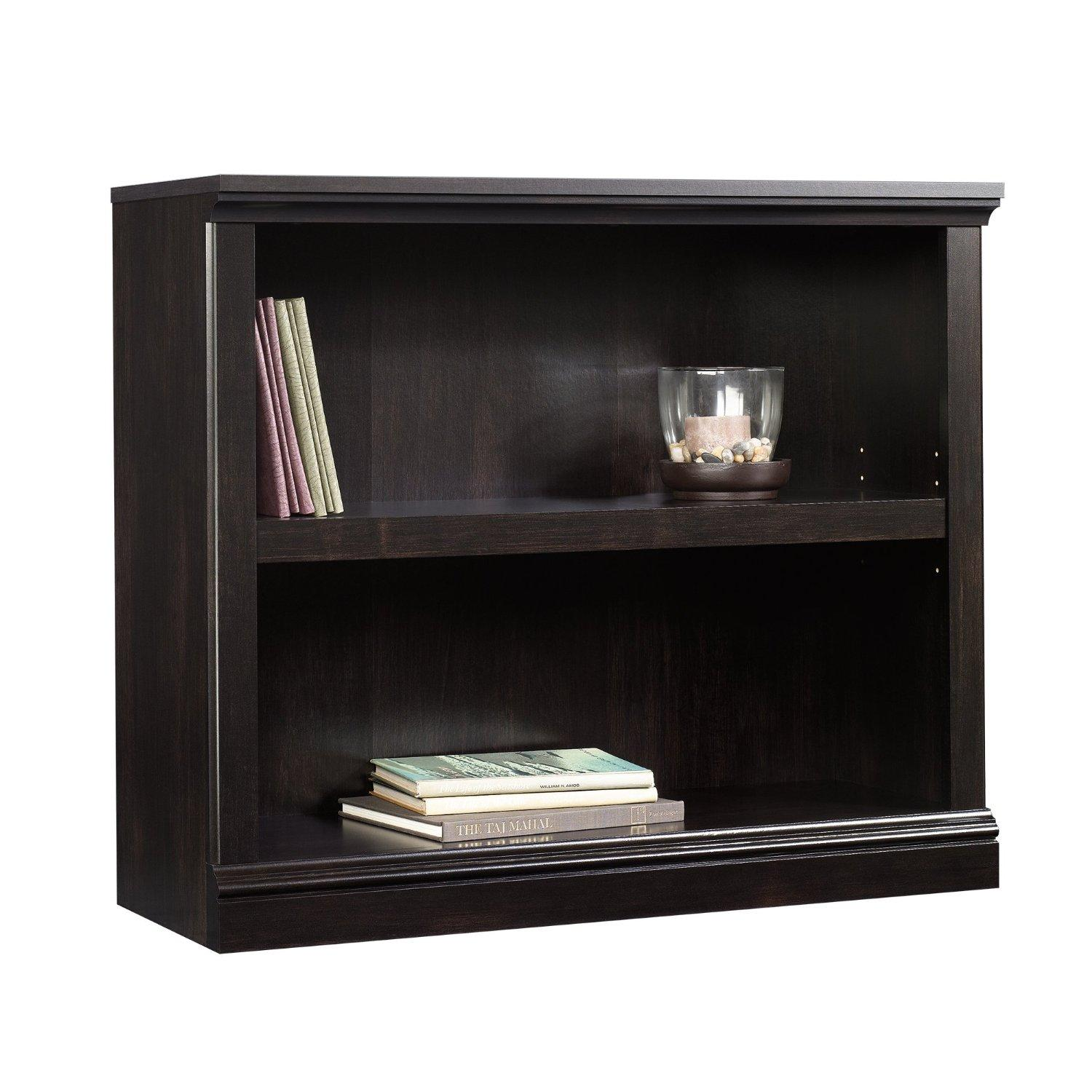 Sauder 2-Shelf Bookcase Estate, Black