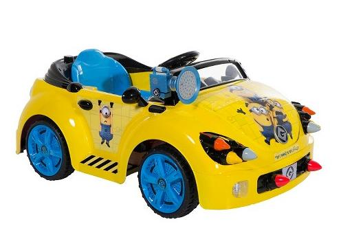 $57.04 Minions Battery Powered Ride-On Car