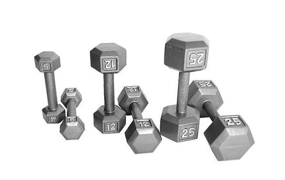 From $9.99 CAP Barbell Cast Iron Hex Dumbbell, Single ,5Ib —100Ib