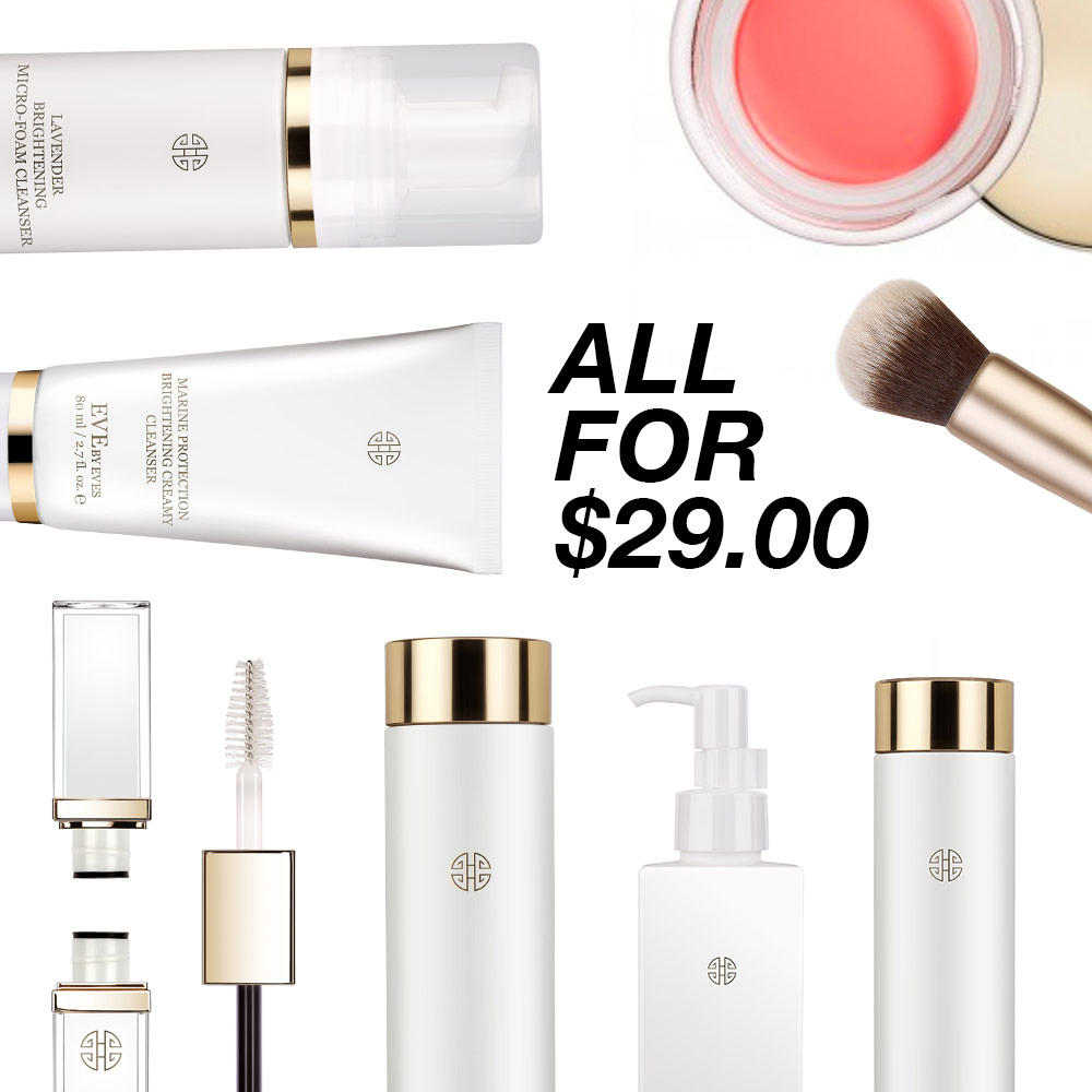 Everything is $29 only! Beauty Products On Sale @Eve by Eve's