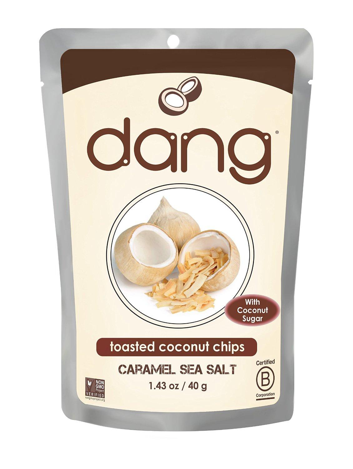 $14.43 Dang Gluten Free Toasted Coconut Chips, Lighltly Salted, Unsweetened, 3.17 Ounce Bags