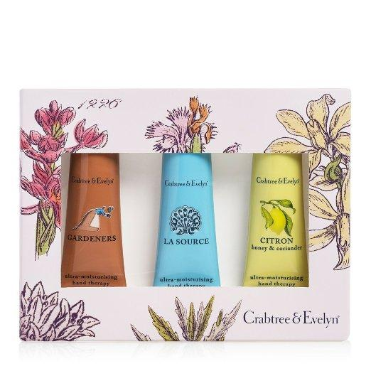 Crabtree & Evelyn Hand Therapy Sampler, Best Sellers 3-Pack