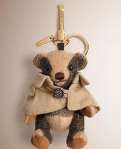Burberry London Camel Cashmere Thomas Trench Keychain @ SSENSE