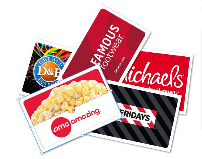 Up to 20% off Select  gift card @ eBay