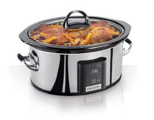 Crock-Pot Programmable Touchscreen Slow Cooker, 6.5-Quart, Silver