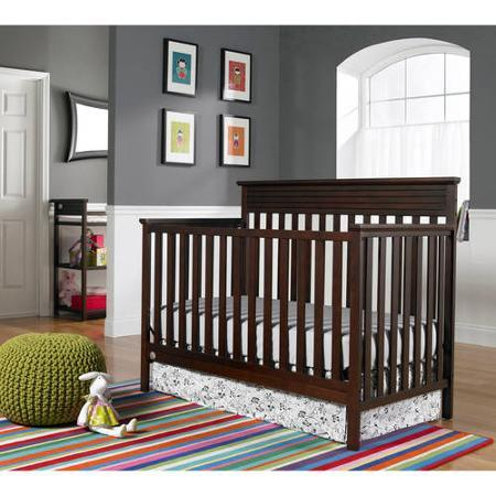 Fisher-Price Newbury 4-in-1 Fixed-Side Convertible Crib, Cherry