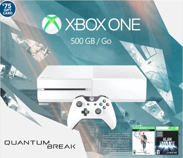 $299.99+$75 Gift Card Xbox One Special Edition Console Quantum Break Bundle - Cirrus White