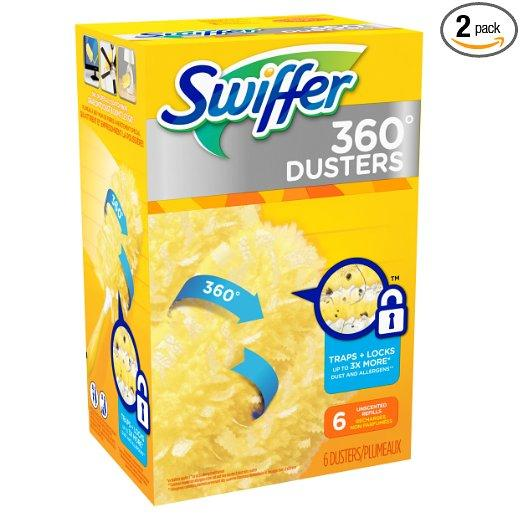 Swiffer 360 Disposable Cleaning Dusters Refills, Unscented, 6-Count (Pack of 2)