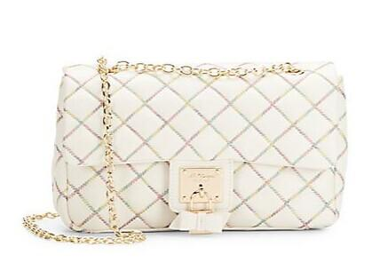 Betsey Johnson Cotton Candy Quilted Shoulder Bag @ Saks Off 5th