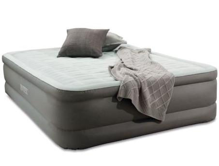 Intex Premaire Fiber-Tech Elevated Airbed Mattress w/ Built-In Pump Queen 64473E