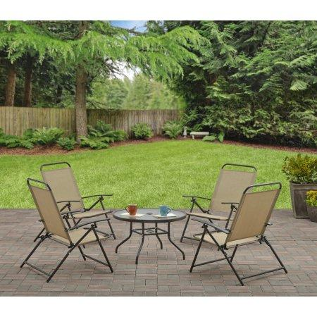 Mainstays Albany Lane 5-Piece Folding Seating Set, Multiple Colors