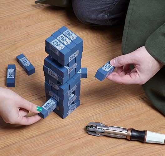 $10.00 Doctor Who Tardis Tumbling Tower Game - 36 Pieces Included