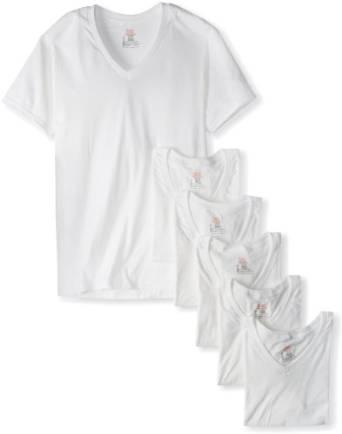 Hanes Men's 6 Pack Ultimate V-Neck T-Shirt
