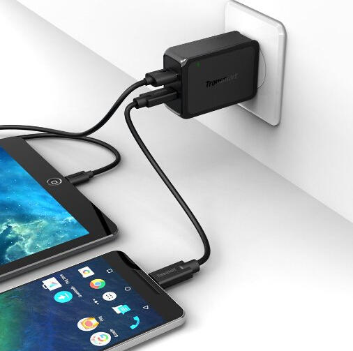 Tronsmart  4.8A Dual USB Charger with Quick Charge 2.0 Technology