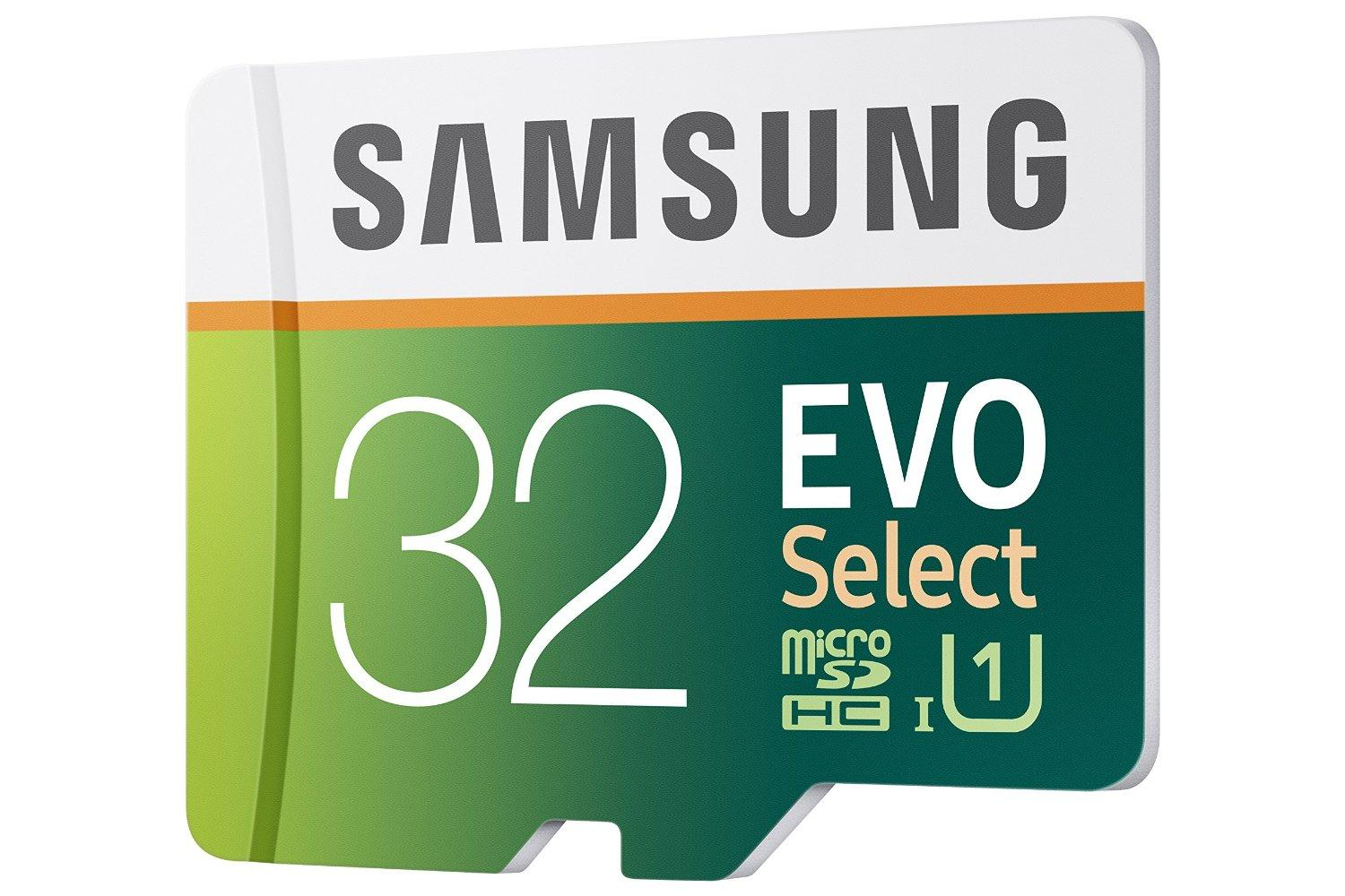 Samsung EVO Select Micro SDXC Memory Card, 32GB, 80MB/s (MB-ME32DA/AM)