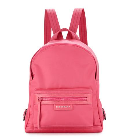 Longchamp Le Pliage Small Nylon Backpack, Pink @ Neiman Marcus