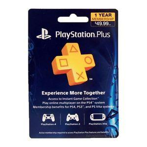 Sony Playstation Plus 1 Year Membership (12 month PSN Card)