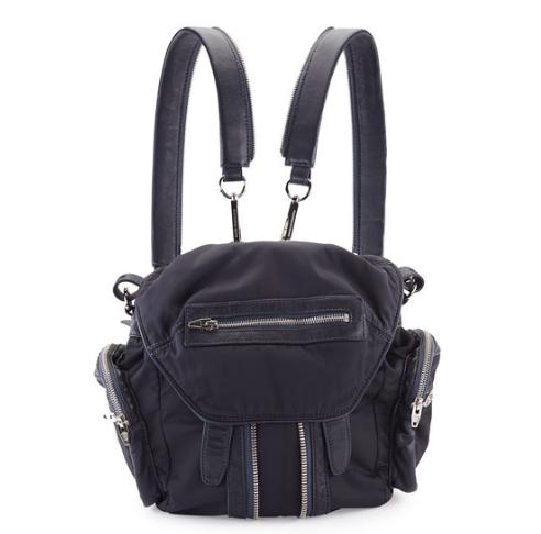 Alexander Wang Marti Mini Nylon/Leather Backpack, Neptune @ Neiman Marcus
