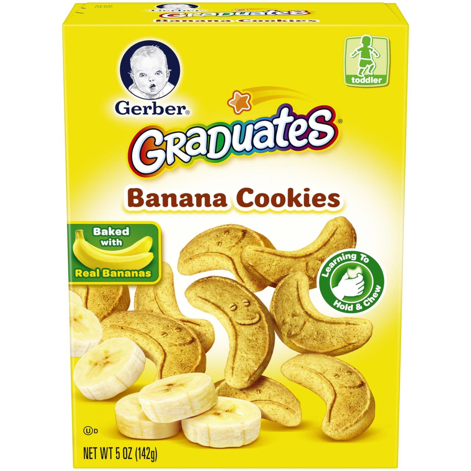$15.5 Pack of 12 Gerber Graduates Cookies, Banana Cookies, 5oz Boxes (Pack of 12)