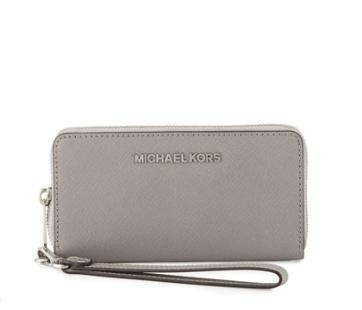 MICHAEL Michael Kors Jet Set Large Multifunction Phone Case, Pearl Gray