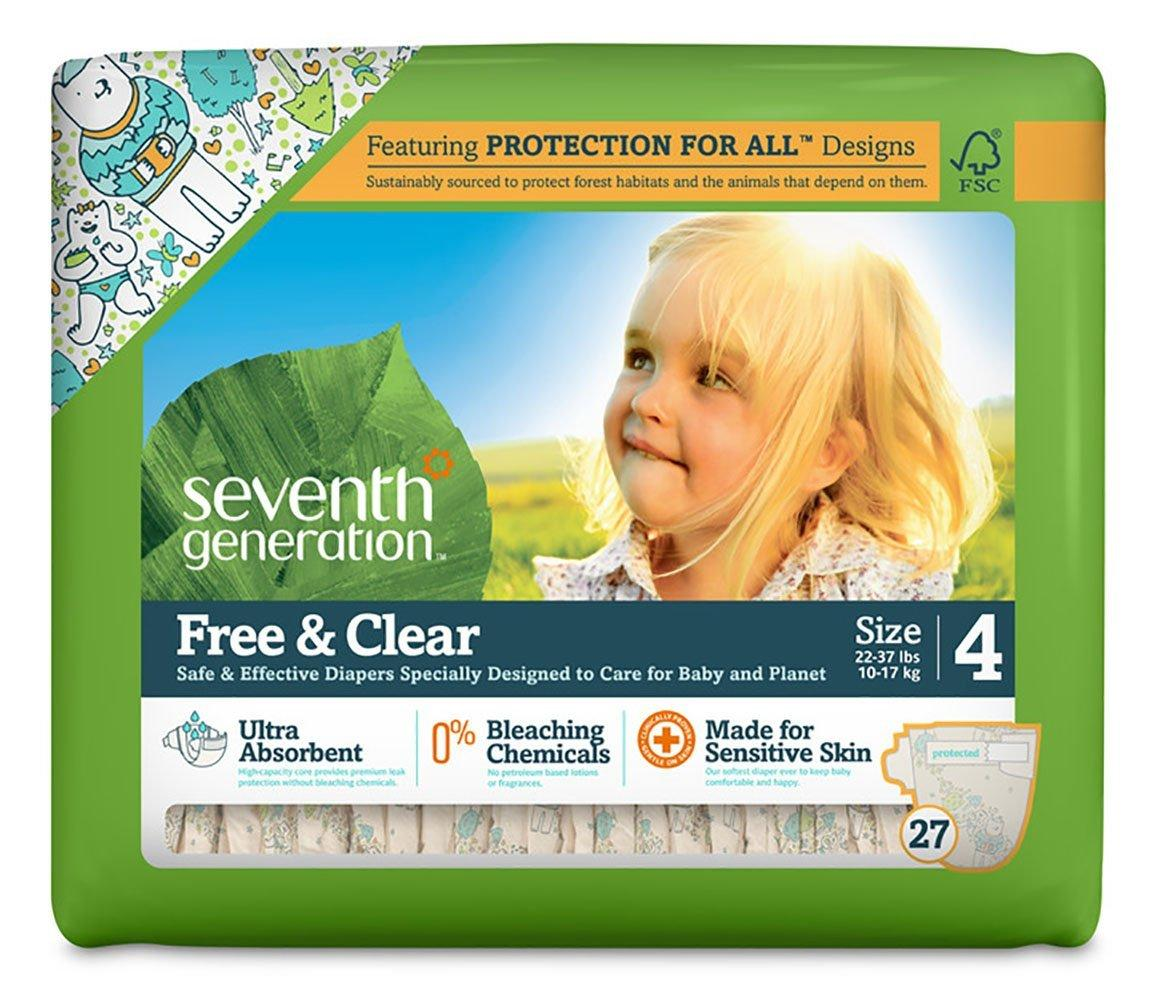 Prime Members Only! 30% + Extra 20% Off Select Seventh Generation Free & Clear Baby Diapers with Animal Prints  @ Amazon.com