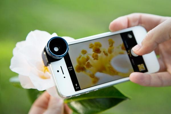 $9.99 Olloclip 4-IN-1 Lens iPhone 5/5S/SE Plus Silver or Red
