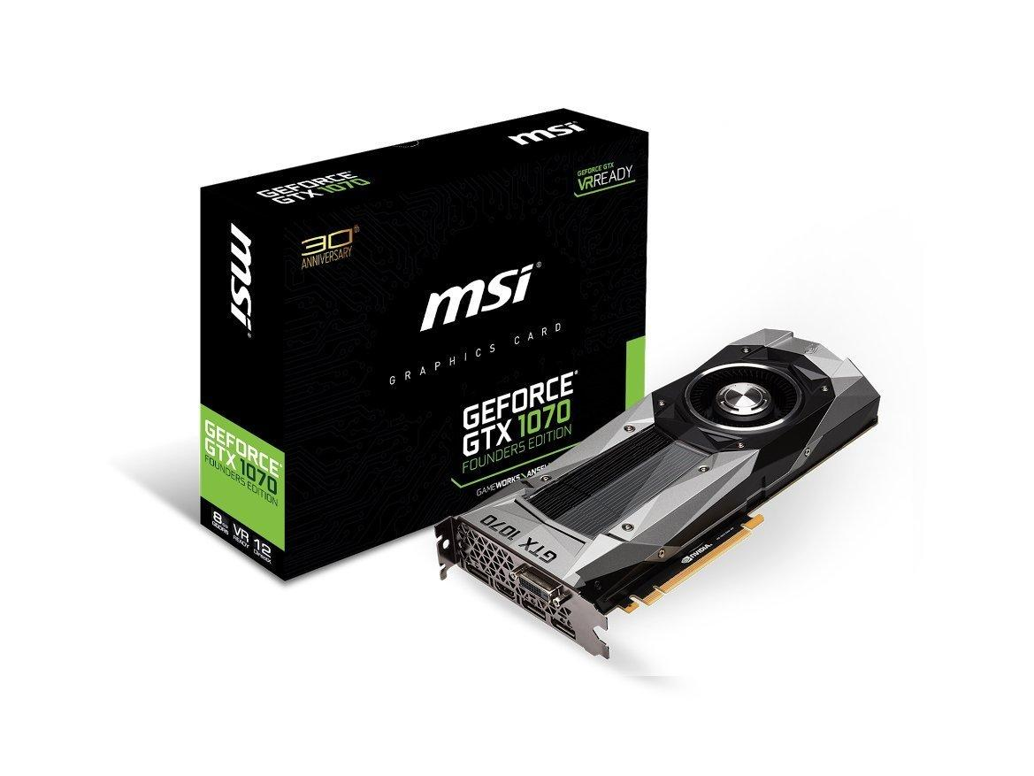 $449.99 MSI Computer GeForce GTX 1070 Founders Edition Graphics Cards