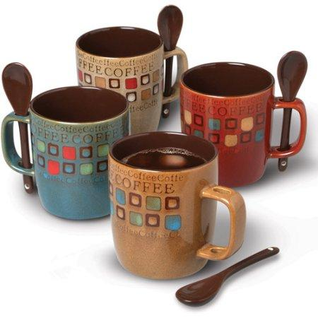 Mr. Coffee Cafe Americano 13 oz Mugs, Set of 4