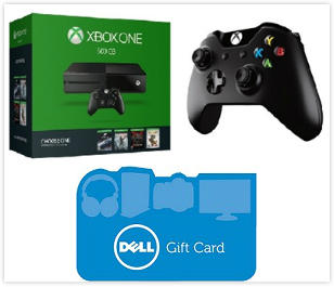 $279.99 Xbox One 500GB Name Your Game Bundle + Extra wireless controller+$50 Dell Gift Card