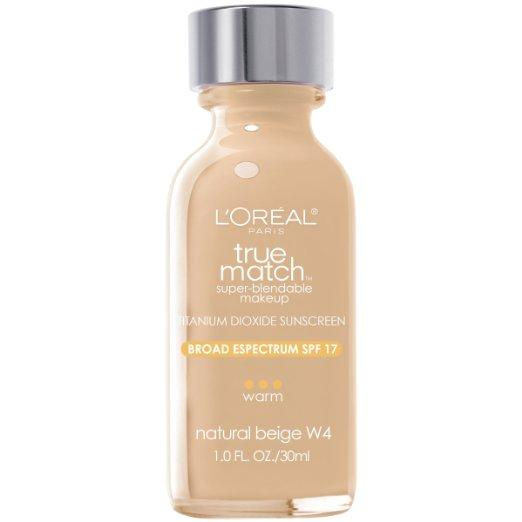 L'Oreal Paris True Match Super Blendable Makeup, Natural Beige, 1.0 Ounces