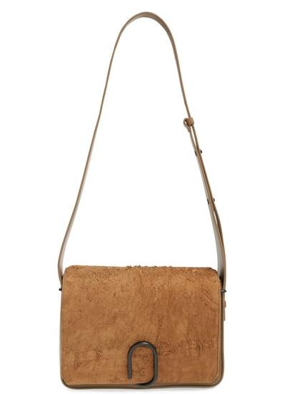 437.98 3.1 Phillip Lim 'Alix' Distressed Suede & Calfskin Leather Shoulder Bag On Sale @ Nordstrom