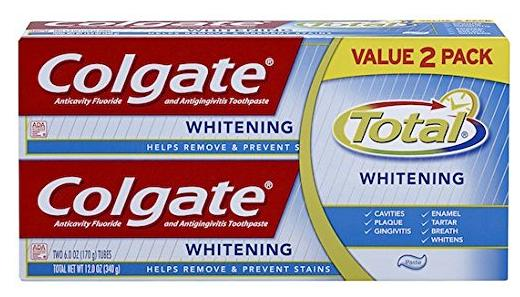 $3.29 Colgate Total Whitening Toothpaste Twin Pack (two 6oz tubes)