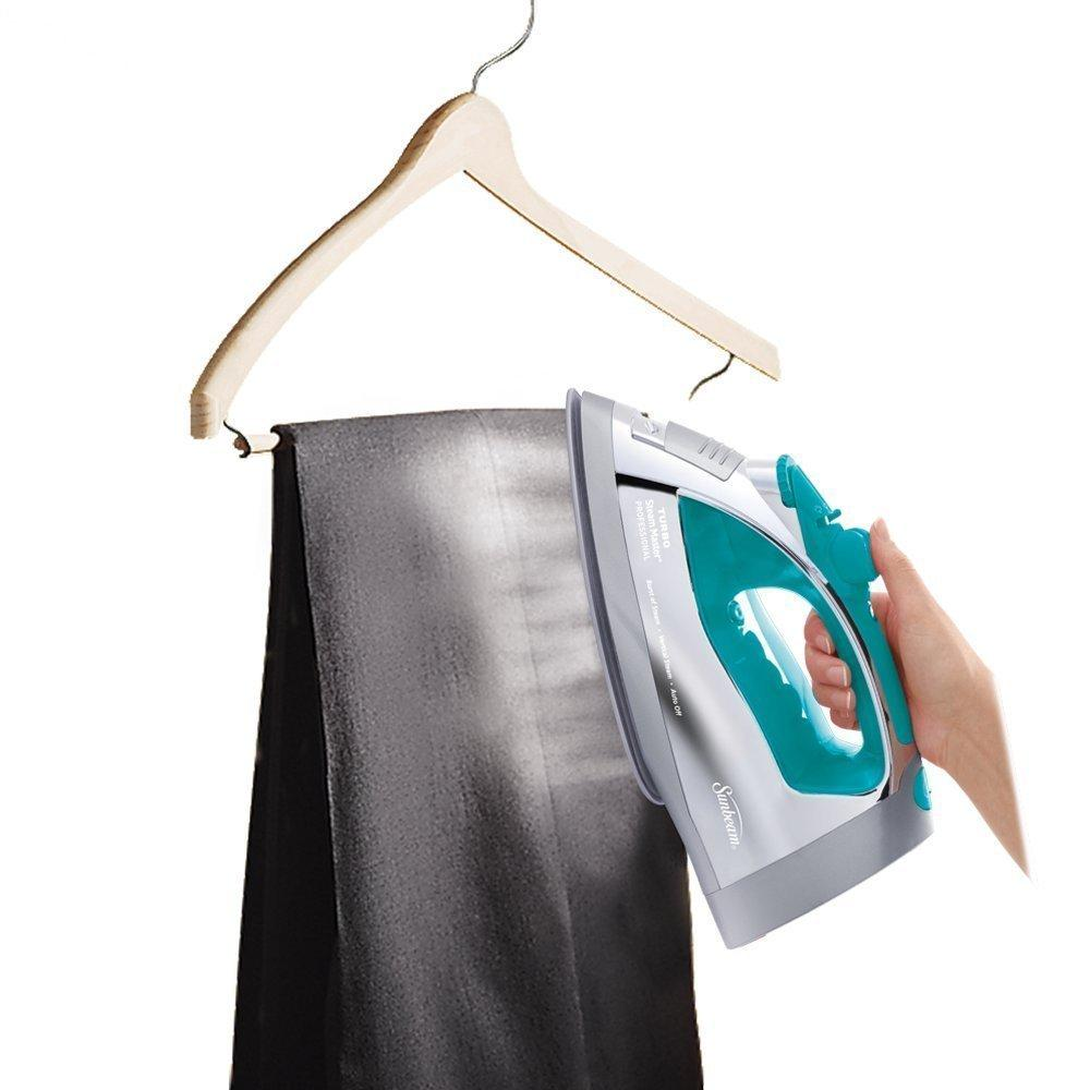 $29.99 Sunbeam Steam Master Iron with Retractable Cord, Chrome & Teal