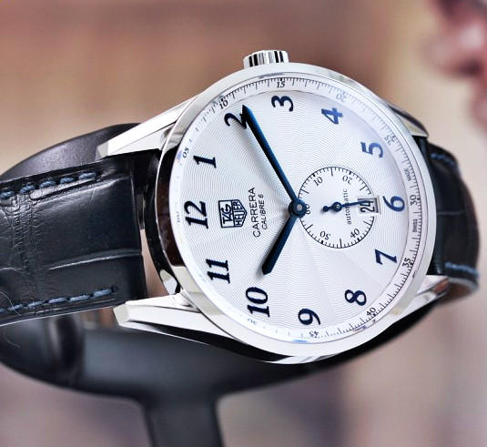 Lowest price! $1875 Tag Heuer Men's  Carrera White Dial Dress Watch