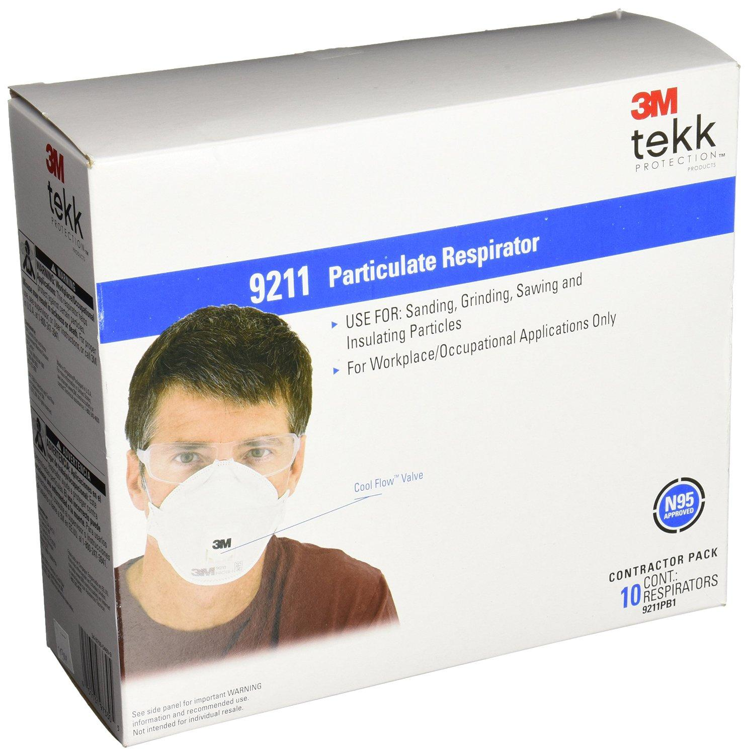 3M Particulate Respirator, 10-Pack