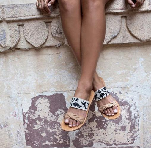 Otomi Braided Slide Sandal