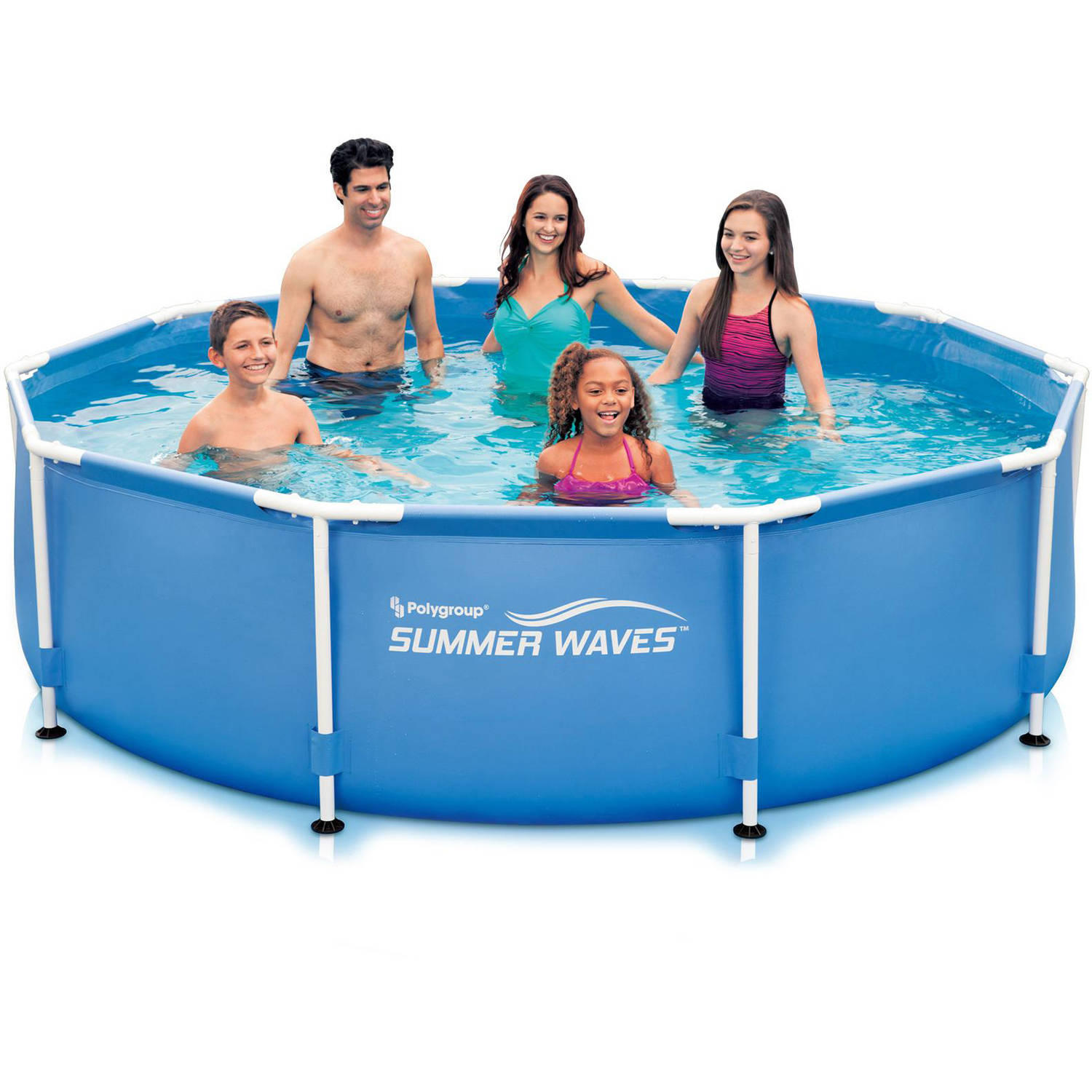 "$50 Summer Waves 10' x 30"" Round Metal Frame Above Ground Swimming Pool"