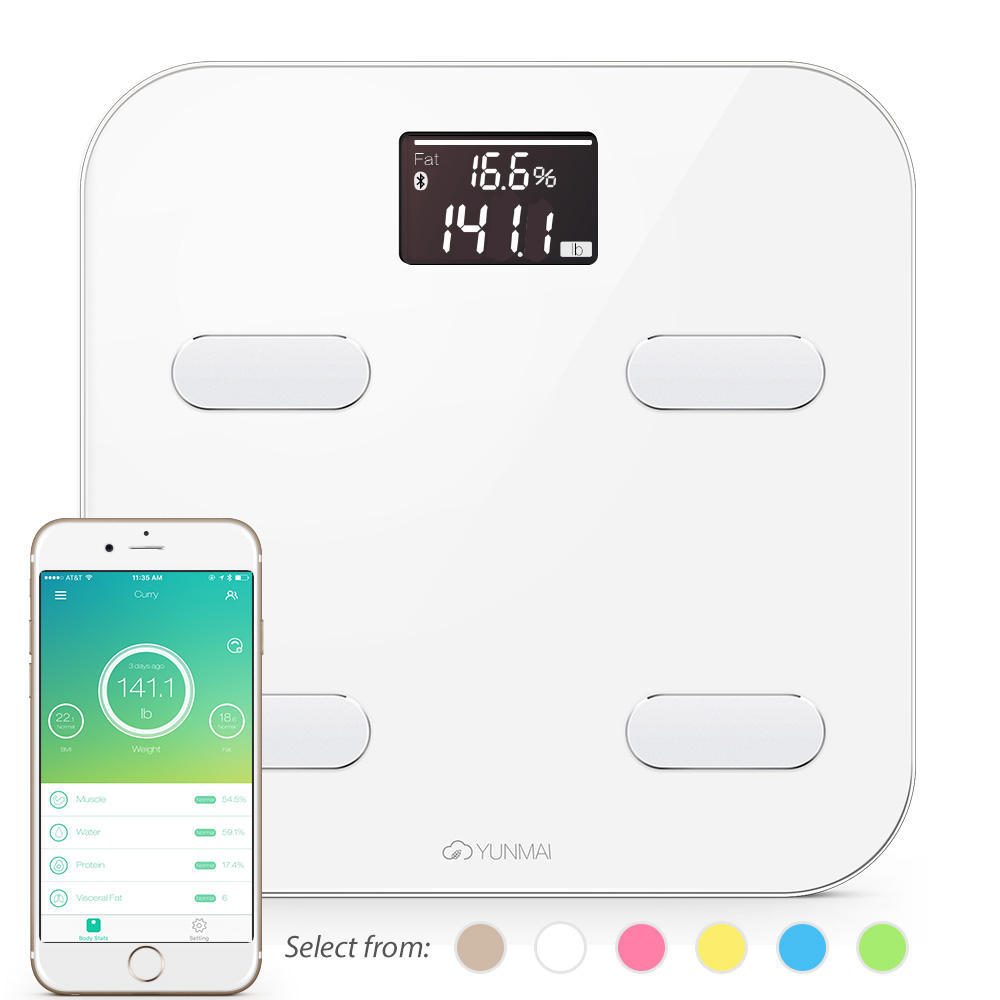 $49.95 Yunmai Bluetooth 4.0 Smart Scale & Body Fat Monitor - 10 Precision