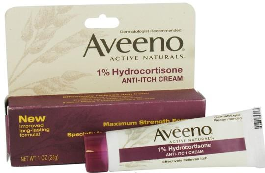 $3.12 Aveeno Anti-Itch Cream, 1% Hydrocortisone 1 Ounce (Pack of 2)