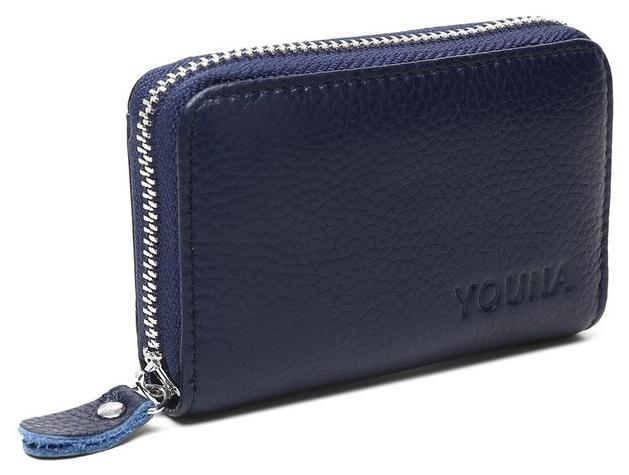 $8.99 Credit Card Wallet,YOUNA Rfid Blocking Genuine Leather Credit Card Holder for Women