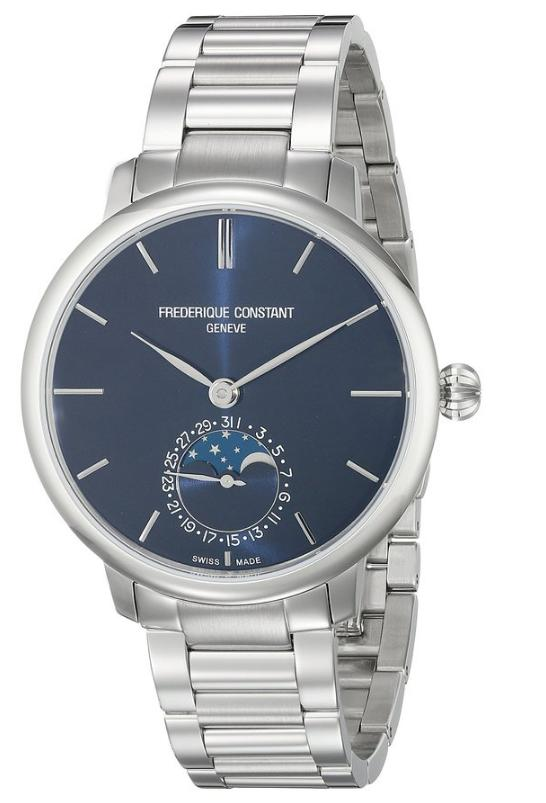 Frederique Constant Men's FC703N3S6B Slim Line Analog-Display Swiss Automatic Silver Watch