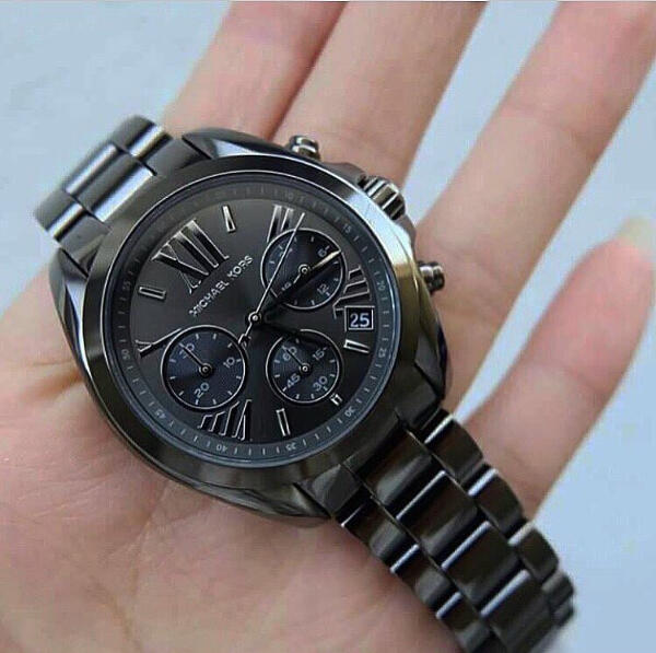 $119.99 Michael Kors Bradshaw Chronograph Black ion Plated Mens Watch MK5550